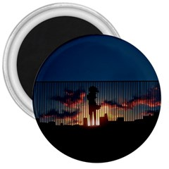 Art Sunset Anime Afternoon 3  Magnets