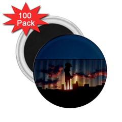 Art Sunset Anime Afternoon 2 25  Magnets (100 Pack)