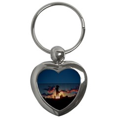 Art Sunset Anime Afternoon Key Chains (heart)  by BangZart
