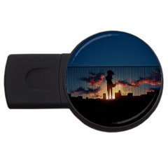 Art Sunset Anime Afternoon Usb Flash Drive Round (2 Gb) by BangZart