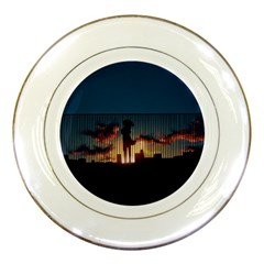 Art Sunset Anime Afternoon Porcelain Plates by BangZart