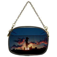 Art Sunset Anime Afternoon Chain Purses (one Side)  by BangZart