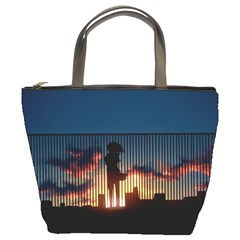 Art Sunset Anime Afternoon Bucket Bags