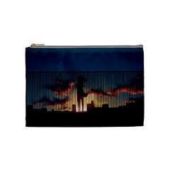 Art Sunset Anime Afternoon Cosmetic Bag (medium)