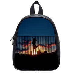 Art Sunset Anime Afternoon School Bags (small)