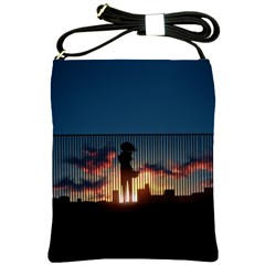 Art Sunset Anime Afternoon Shoulder Sling Bags by BangZart