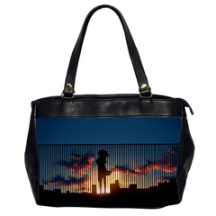 Art Sunset Anime Afternoon Office Handbags (2 Sides)  by BangZart
