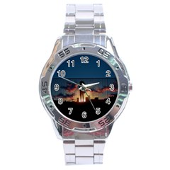 Art Sunset Anime Afternoon Stainless Steel Analogue Watch by BangZart