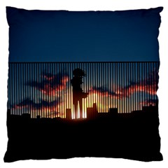 Art Sunset Anime Afternoon Large Cushion Case (two Sides) by BangZart