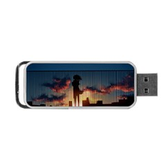 Art Sunset Anime Afternoon Portable Usb Flash (two Sides) by BangZart