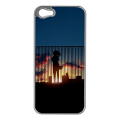 Art Sunset Anime Afternoon Apple Iphone 5 Case (silver) by BangZart