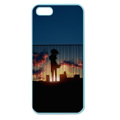 Art Sunset Anime Afternoon Apple Seamless Iphone 5 Case (color)