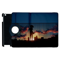 Art Sunset Anime Afternoon Apple Ipad 2 Flip 360 Case by BangZart