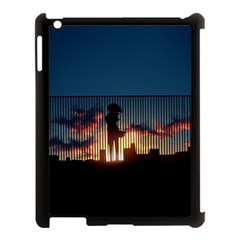 Art Sunset Anime Afternoon Apple Ipad 3/4 Case (black) by BangZart