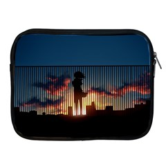 Art Sunset Anime Afternoon Apple Ipad 2/3/4 Zipper Cases by BangZart