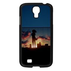 Art Sunset Anime Afternoon Samsung Galaxy S4 I9500/ I9505 Case (black)