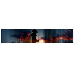 Art Sunset Anime Afternoon Flano Scarf (large)