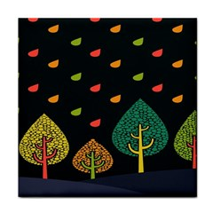 Vector Color Tree Tile Coasters