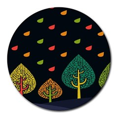 Vector Color Tree Round Mousepads