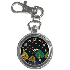 Vector Color Tree Key Chain Watches