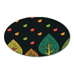 Vector Color Tree Oval Magnet by BangZart