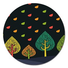 Vector Color Tree Magnet 5  (round) by BangZart