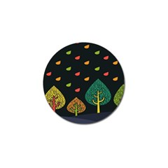 Vector Color Tree Golf Ball Marker (10 Pack) by BangZart