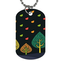 Vector Color Tree Dog Tag (two Sides) by BangZart