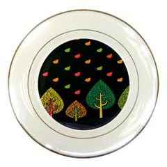 Vector Color Tree Porcelain Plates by BangZart