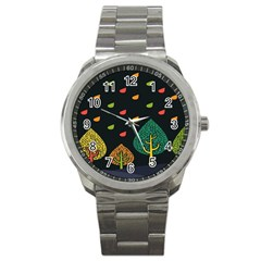 Vector Color Tree Sport Metal Watch by BangZart