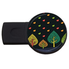 Vector Color Tree Usb Flash Drive Round (4 Gb) by BangZart