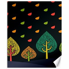 Vector Color Tree Canvas 16  X 20