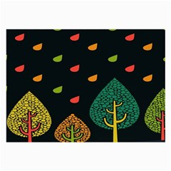 Vector Color Tree Large Glasses Cloth (2 Side) by BangZart