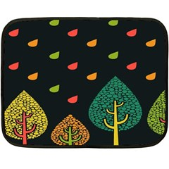 Vector Color Tree Double Sided Fleece Blanket (mini)  by BangZart