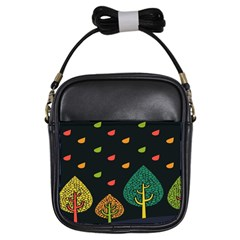 Vector Color Tree Girls Sling Bags by BangZart