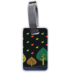Vector Color Tree Luggage Tags (two Sides)