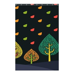 Vector Color Tree Shower Curtain 48  X 72  (small)