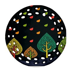 Vector Color Tree Round Filigree Ornament (two Sides) by BangZart