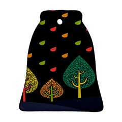 Vector Color Tree Bell Ornament (two Sides)