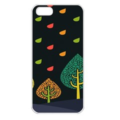 Vector Color Tree Apple Iphone 5 Seamless Case (white) by BangZart