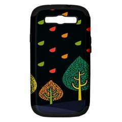 Vector Color Tree Samsung Galaxy S Iii Hardshell Case (pc+silicone)