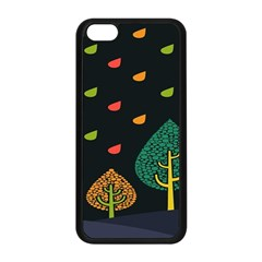 Vector Color Tree Apple Iphone 5c Seamless Case (black)