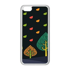 Vector Color Tree Apple Iphone 5c Seamless Case (white)