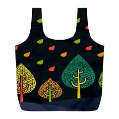 Vector Color Tree Full Print Recycle Bags (l)  by BangZart