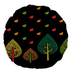 Vector Color Tree Large 18  Premium Flano Round Cushions by BangZart