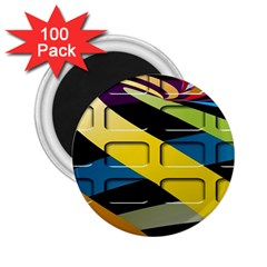 Colorful Docking Frame 2 25  Magnets (100 Pack)  by BangZart