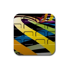 Colorful Docking Frame Rubber Square Coaster (4 Pack)  by BangZart