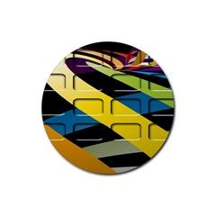 Colorful Docking Frame Rubber Round Coaster (4 Pack)