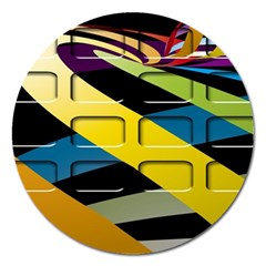 Colorful Docking Frame Magnet 5  (round) by BangZart