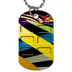 Colorful Docking Frame Dog Tag (two Sides) by BangZart